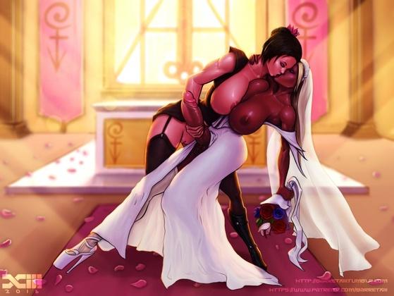 Barretxiii - CYOA Futa Lesbian Wedding