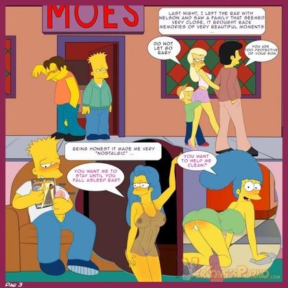 Komiks porno Lisa i Bart Simpson