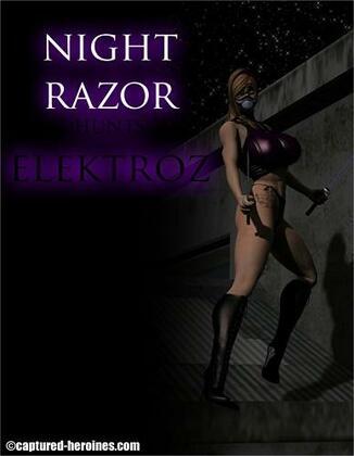 Captured Heroines - Night Razor Hunts Elektroz