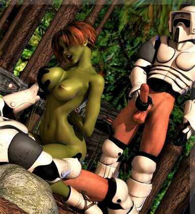 3D  Mongo Bongo - Star Wars Storm Troopers DP Sexy Alien Girl