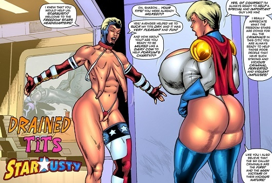 SuperHeroineComixxx - Drained Tits - StarBusty