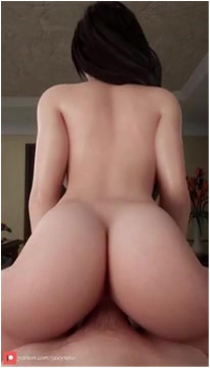 Tifa Reverse Cowgirl POV - Juicyneko