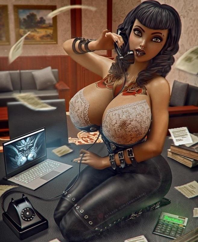 Hot porn artwork by Shockabuki