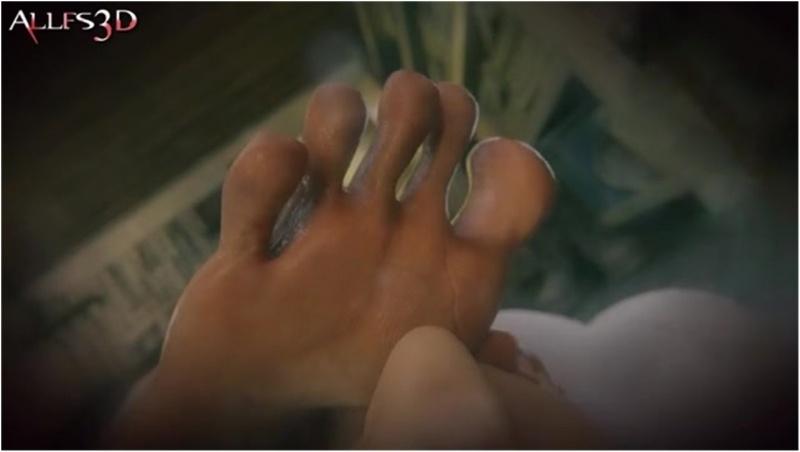 Jill Valentine foot sniffing blowjob POV