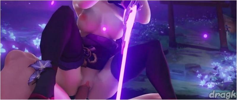 Shogun Raiden Baal from Genshin Impact Rides Dick