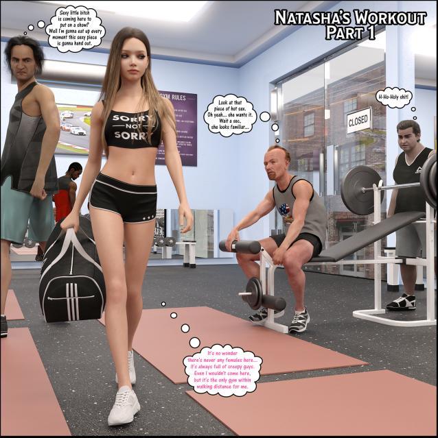 3D  Darklord - Natasha\'s Workout Part 1