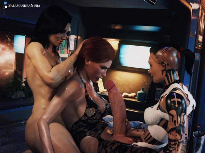 3D  SalamandraNinja - Jack, Femshep & Miranda