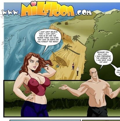 Milftoon - Stranded Family On An Island