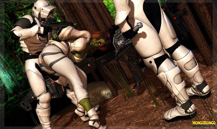 Mongo Bongo - Star Wars Storm Troopers DP Sexy Alien Girl